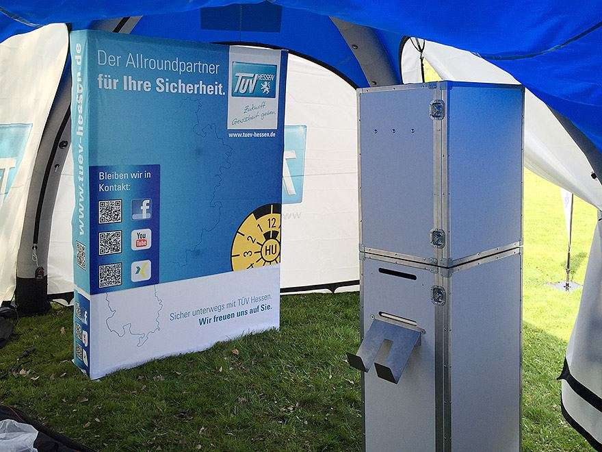 Fotobooth im Eventzelt